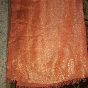 Coral Shimmery scarf